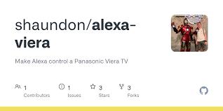 GitHub - shaundon/alexa-viera: Make Alexa control a Panasonic Viera TV