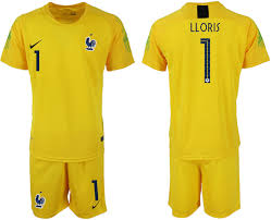 France Goalkeeper Fifa Yellow Training 1 Cup 2018 Soccer Breathable Sports Suit World Jersey Lloris