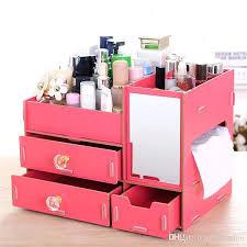 wooden makeup organizer white wooden beauty makeup jewelry organizer storage box display 3 drawer