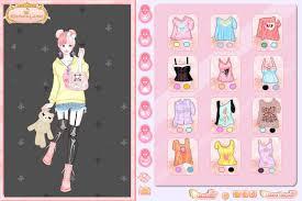 pastel goth dress up game screen shot 1