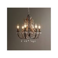 rh palais crystal rusty chandelier