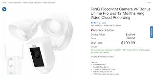 Ring Security Light Costco Ring Floodlight Camera W Chime Pro And 1 Year Cloud