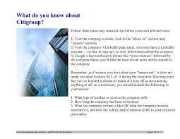 Careers Interview Questions Citigroup Interview Questions And Answers