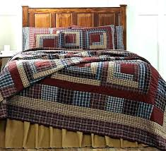 navy quilt bedding new primitive country navy blue wine tan log cabin quilt king size dark
