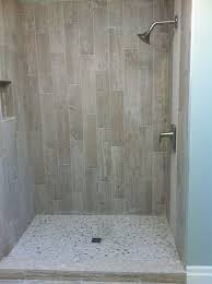 wood look tile shower ideas designs pertaining to decorations 9