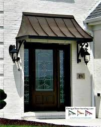 metal front doorFront Door Awning Ideas  Home Design