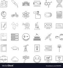 Certificate Outline Certificate Icons Set Outline Style