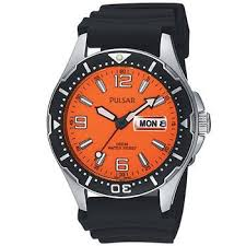 17 best images about seiko pulsar watches shops pulsar mens orange dial black watch