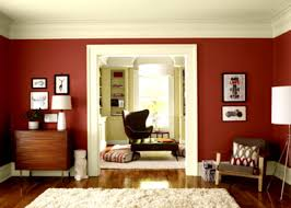 Living Room Borders Interior Design Living Room Paint Color Idea With A Red Wall And