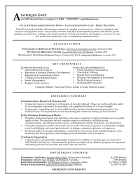 Example Of Functional Resumes Public Relations Mid Experience Resume Samples Templates