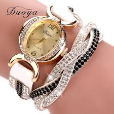 Designer Watches For Women Duoya Luxury Brand Watch Women Gold Dress Crystal Rhinestone Bracelet Watch Female Fashion Ribbon Quartz Clock Christmas Gift