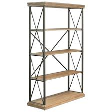 5 tier wooden shelf 5 tier wide wooden shelf in metal frame tan brown free