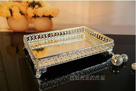 Decorative Bowls And Trays 100100cm rectangle decorative crystal tray serving tray glass fruit 76
