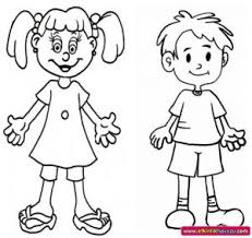 Small Picture Human Body Coloring Pages for Kids Preschool and Kindergarten