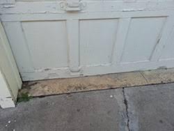 painted wood garage door. Modren Door This Home At 8467 Forest Hills Blvd Dallas Tx Has A Old Paint Peeling Wood  Garage Inside Painted Wood Garage Door