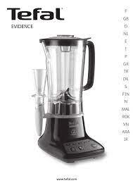 Tefal BL530831 Evidence Blender & Smoothie maker Benutzerhandbuch