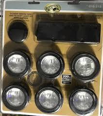 Hampton Bay Xenon Puck Lights Hampton Bay Ec1333bk 6 Light Xenon Black Under Cabinet Puck Light Kit