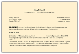 Examples Of Objectives On Resumes Berathen Com