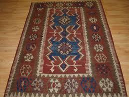 antique turkish konya region obruk kilim of small size circa 1900 1 of a pair 2
