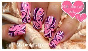Abstract Nail Art Tutorial | Purple and Pink Wonderland Nails ...
