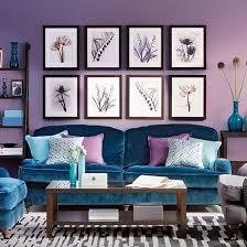 blue, blue-violet, violet room