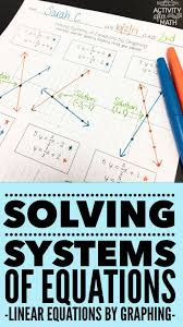 solving systems of equations by graphing practice worksheet standard form equation and students