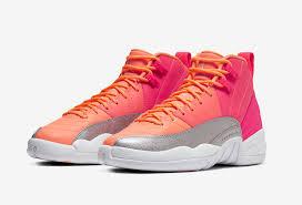 Air Jordan 12 GS Racer <b>Pink</b> Hot Punch Bright Mango 510815-601 ...
