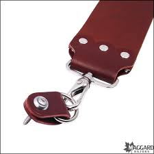 mountain mikes leather strop hanger system on strop