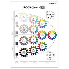 Japanese Color Chart Japanese Japan Color Research Institute Pccs Basic Wall Chart 70731
