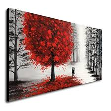 white large landscape canvas wall art