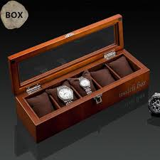 top 5 slots wood watch display box black wood watch storage box with lock fashion wooden gift jewelry d023 watch winding box watch collection box from tuosu