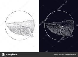 двойной экспозиции китов сюрреалистический татуировки рулевое колесо