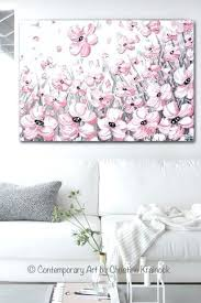 floral canvas wall art print abstract painting pink poppies flowers grey white peonies floral canvas wall floral canvas wall art  on floral wall art australia with floral canvas wall art blooming life modern canvas art wall decor