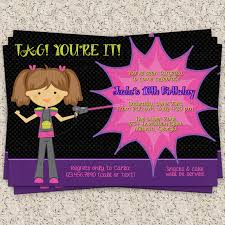 Free Laser Tag Invitation Template Laser Tag Party Invitations Template Free Cimvitation Free Laser