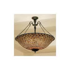 hestia tg68p 6 light mega tiffany pendant ceiling light