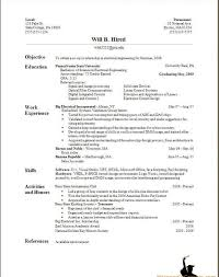 Examples Of Resumes Resume Template For College Student With No