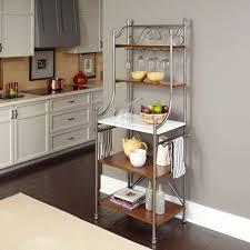 Storage Furniture Kitchen Medium Brown Wood Bakers Racks Kitchen Storage Furniture