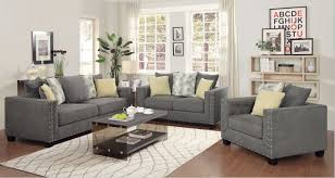 fabric living room furniture. living room, coaster furniture kelvington charcoal grey fabric room set with i