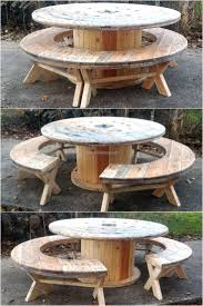 Recycled Pallet Cable Reel Patio Furniture | Cable reel, Patios ...