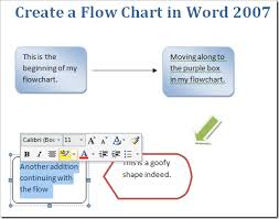 Where To Create Flow Chart Create A Flow Chart In Word 2007