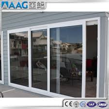 white black gray brown aluminum frame sliding glass door