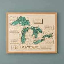 White Lake Ontario Depth Chart Lake Topography Art Hand Crafted Lake Map Topography Art