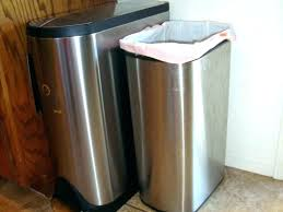 bronze garbage can stainless kitchen trash can steel bronze garbage