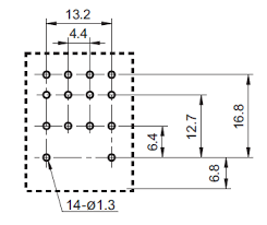 gr12pin4p 4pdt 12vdc 5a 14 pin terminals relay technical data gr12pin4p 4pdt 12vdc 5a 14 pin terminals relay pin layout