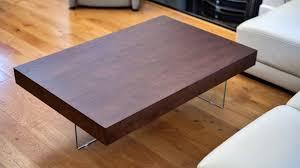 brand new danetti aria large espresso dark wood contemporary coffee table with glass legs