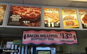 Little Caesars Bacon Wrapped Deep Deep Dish Pizza Foodology