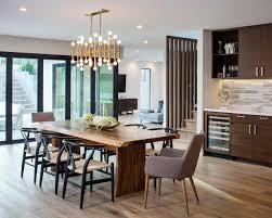 dining room mid century modern room lighting for outdoor dinner white tile ceramic flooring round