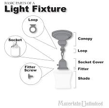light fixture hardware parts fixtures