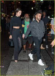 The Weeknd & Bella Hadid Hold Hands at ...