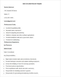 Ideas of Sales Consultant Sample Resume For Your Worksheet